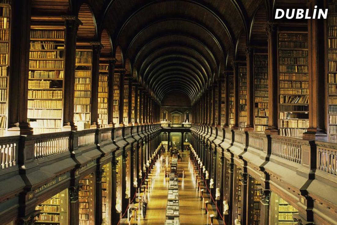 Dublin'de Kütüphane