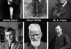 James Joyce, Oscar Wilde, Yeats, Samuel Beckett, George Bernard Shaw, Bram Stoker,