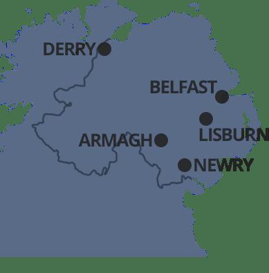 Kuzey İrlanda Haritası